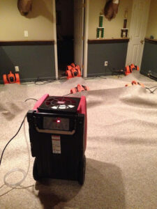 911 Restoration - water removal- Westminster carpet drying